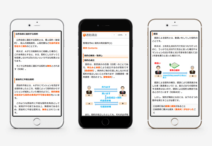 スタディング【マンション管理士】評判と口コミ:スマートフォン携帯を利用したスキマ時間の活用