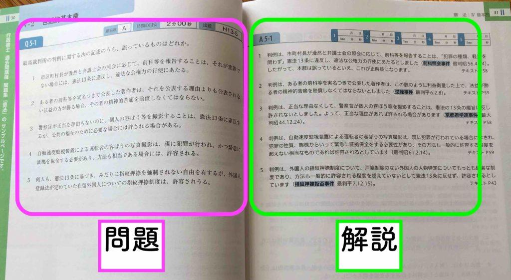 フォーサイト行政書士評判と口コミ:無料サンプル「テキストと過去問」