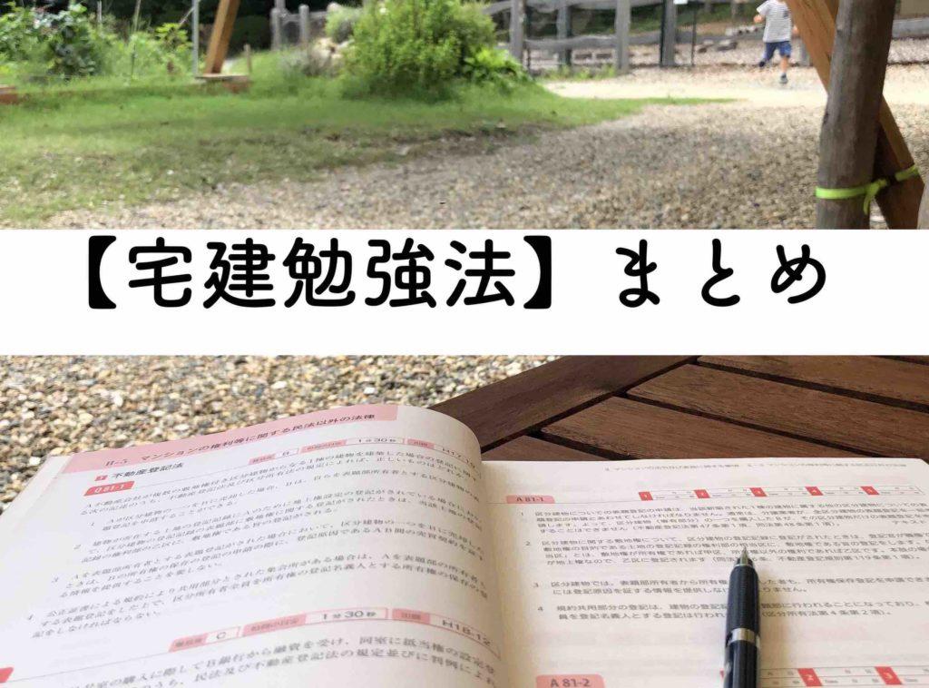 宅建勉強法のまとめ:学習すべき宅建試験ポイントのイメージ画像