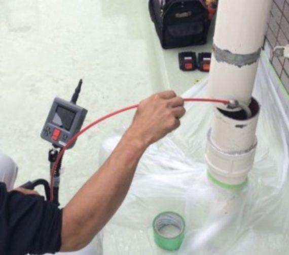 マン管・管理業務主任者試験対策:マンションの配管の内視鏡の検査の画像